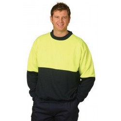 High Visibility Two Tone Crew Neck Safety Windcheater - SW09