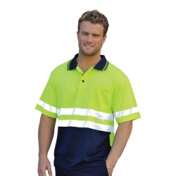 High Visibility ShortSleeve Safety Polo3M Reflective Tapes - SW17A