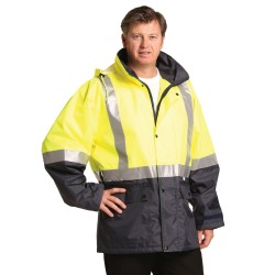 HI-VIS SAFETY JACKET WITH MESH LINING & 3M TAPES - SW18A