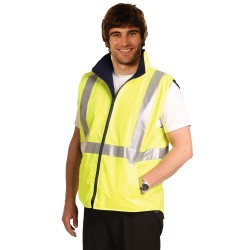 HI-VIS REVERSIBLE SAFETY VEST WITH 3M TAPES - SW19A