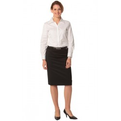 Womens Poly/Viscose Stretch Mid Length Lined Pencil Skirt - M9471