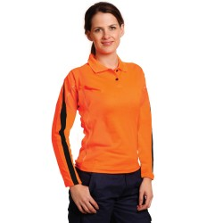 Ladies' TrueDry Hi-Vis Legend Long Sleeve Polo - SW34A