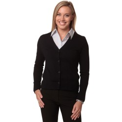 Womens V-Neck Long Sleeves Cardigan - M9602