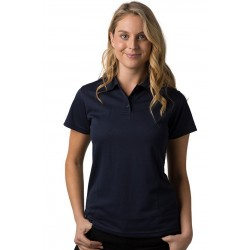 Ladies 100% Polyester Cooldry Pique Knit Polo - THE PIRANHA