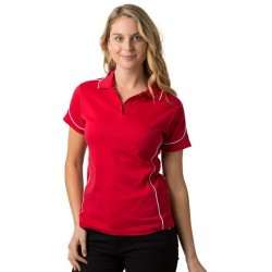 Ladies 80% Combed Cotton 20% Cooldry Baby Waffle Knit Polo - BSP09L