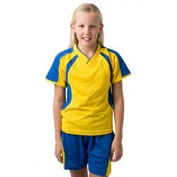 Kids 100% Polyester Cooldry Pique Knit V-Neck T-Shirt - BST002K