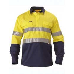 3M TAPED CLOSED FRONT HI VIS SHIRT 2 TONE L/S - BTC6456