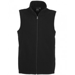 MENS PLAIN POLY FLEECE VEST - F233MN