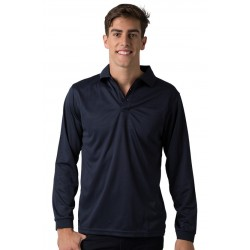 Men's 100% Polyester Cooldry Micromesh Long Sleeve Polo - THE FALCON