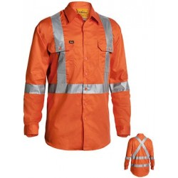 3M X TAPED HI VIS DRILL SHIRT L/S - BS6156T