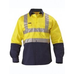 3M TAPED HI VIS DRILL SHIRT 2 TONE L/S - BS6267T