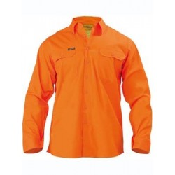 HI VIS COOL LIGHTWEIGHT GUSSET CUFF DRILL SHIRT L/S - BS6894