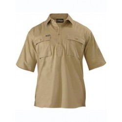 CLOSED FRONT COTTON DRILL SHIRT S/S - BSC1433