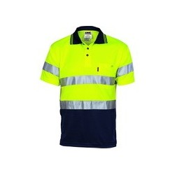175gsm Polyester HiVis D/N Cool Breathe Polo Shirt with CSR R/Tape, S/S. Availability- In Stock - 3715