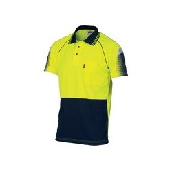 175gsm HiVis Cool-Breathe Sublimated Piping Polo, S/S - 3751