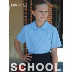 GIRLS PETER PAN SHORT SLEEVE SCHOOL SHIRT - CS1405
