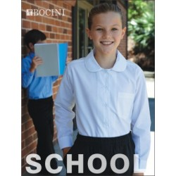 GIRLS PETER PAN COLLAR LONG SLEEVE SCHOOL SHIRT - CS1461