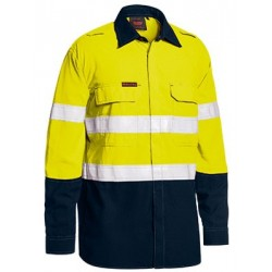 TENCATE TECASAFE PLUS TAPED TWO TONE HI VIS FR LIGHTWEIGHT VENTED SHIRT - LONG SLEEVE - BS8237T