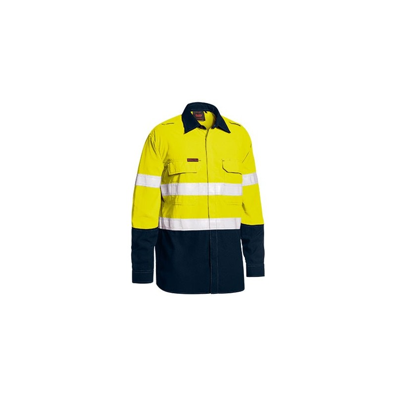 4597b5a5cadc TENCATE TECASAFE PLUS TAPED TWO TONE HI VIS FR LIGHTWEIGHT VENTED SHIRT -  LONG SLEEVE -