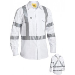 3M TAPED NIGHT DRILL SHIRT - LONG SLEEVE - BS6807T