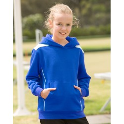 Kids Close Front Contrast Fleece Hoodie - FL19K