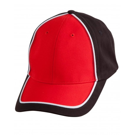 Breathable pique mesh cap with sandwich piping bucket hat - CH78
