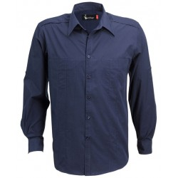 Men's Long Sleeve Shirt with Concealed Pockets & Tab on Sleeve - W34