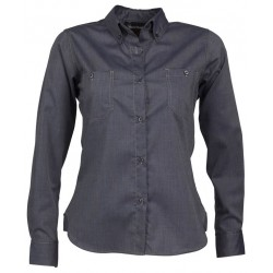 Ladies Long Sleeve Shirt with Twin Pockets & Contrast Stitch - W33