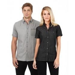Men's Short Sleeve Denim Shirt - W49