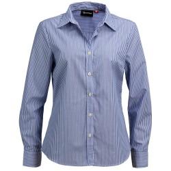 Ladies Long Sleeve Corporate Stripe Shirt - W42