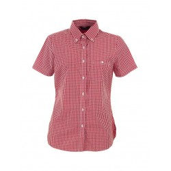 Ladies Short Sleeve Gingham Check - W47