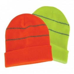 Beanie with Reflective Trims - AH769