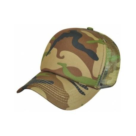 Camouflage Trucker Cap/Polyester & Mesh - AH296