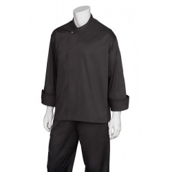 New Yorker Black Executive Cool Vent Chef Jacket - BLDF