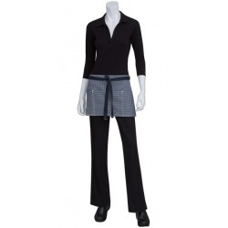 Portland Black Denim Short Waist Apron - AW050