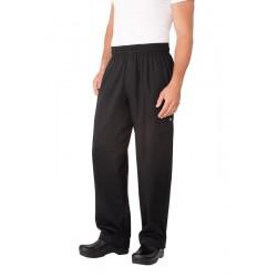 Black Basic Baggy Pants w/ Zipper Fly - NBBZ