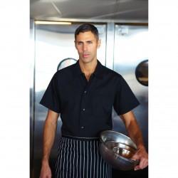 Black Utility Cook Shirt w/ Snaps - KCBL
