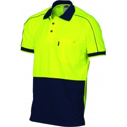 175gsm HiVis Cool-Breathe Double Piping Polo, S/S - 3753