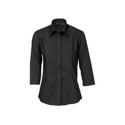 100gsm Ladies Polyester Cotton Shirt, 3/4 Sleeve - 4203