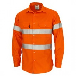 Patron Saint Flame Retardant 2 Tone Cotton Shirt with 3M F/R Tape- Long Sleeve. Availability- In Stock - 3405