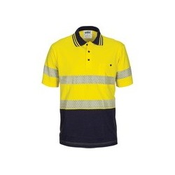 HiVis Segment Taped Cotton Jersey Polo- Short Sleeve - 3515