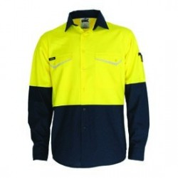 Hivis 2 tone Ripstop Shirt with CSR R/tape, S/S - 3586