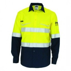 Hivis 2 tone Ripstop Shirt with CSR R/tape, L/S - 3588