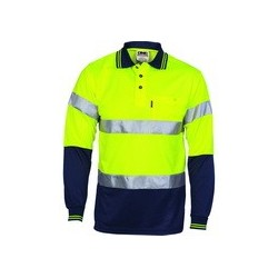 Polyester HiVis D/N Cool Breathe Polo Shirt with CSR R/Tape, L/S 3716
