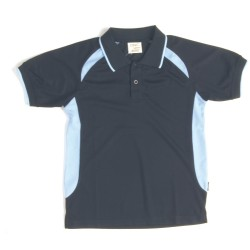 Polyester Kids Air Flow Contrast Raglan Mesh Polo Shirt - 5263