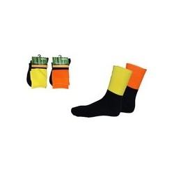 Extra Thick HiVis 2 tone Bamboo Socks. - S109