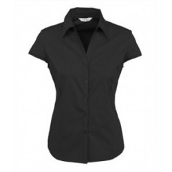 LADIES CAP SLEEVE METRO STITCH SHIRT- S119LN