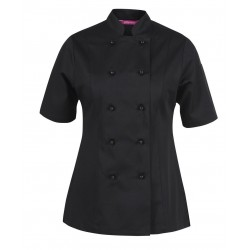 JB's LADIES S/S VENTED CHEFS JACKET - 5CVS1