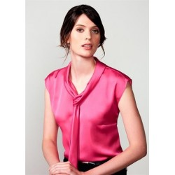 LADIES SHIMMER TIE NECK TOP - S314LS