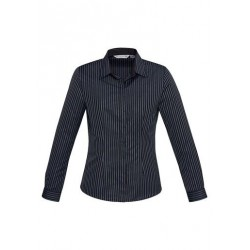 Ladies Reno Stripe Long Sleeve Shirt - S415LL